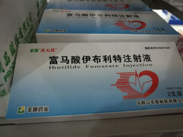China Ibutilidefumarate Injectie Cardiovasculaire Drugs en Therapie Transparante Vloeistof fabriek